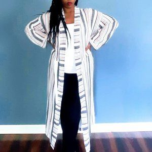 Striped Duster Kimono